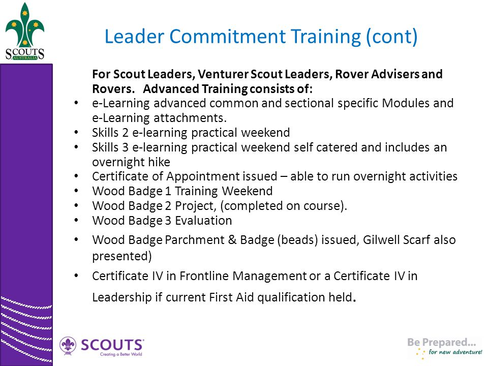 Leader Commitment Training (cont)