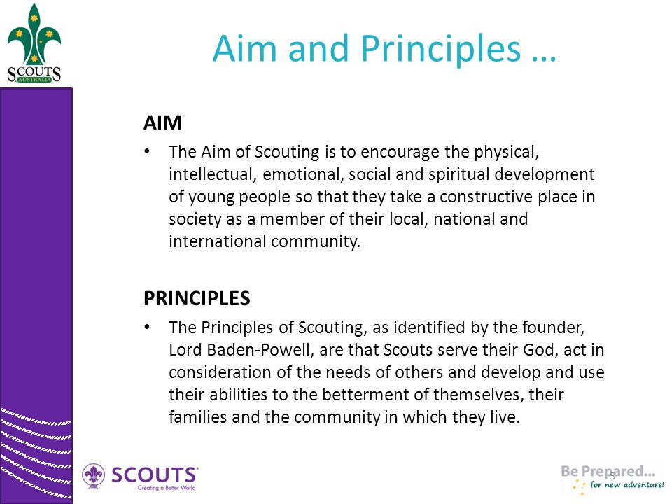 Aim and Principles … AIM PRINCIPLES
