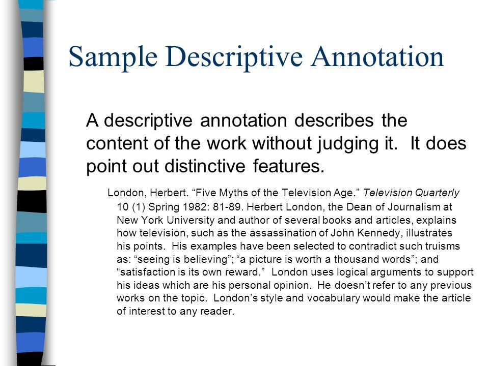 Sample Descriptive Annotation