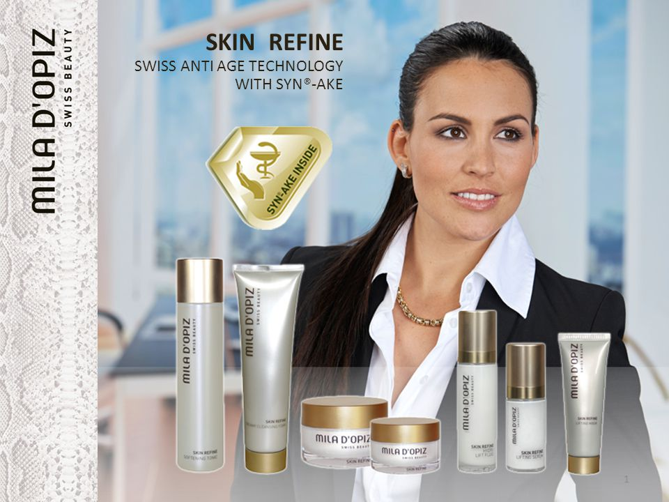 SKIN REFINE SWISS ANTI AGE TECHNOLOGY WITH SYN®-AKE