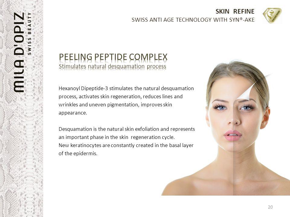 PEELING PEPTIDE COMPLEX Stimulates natural desquamation process