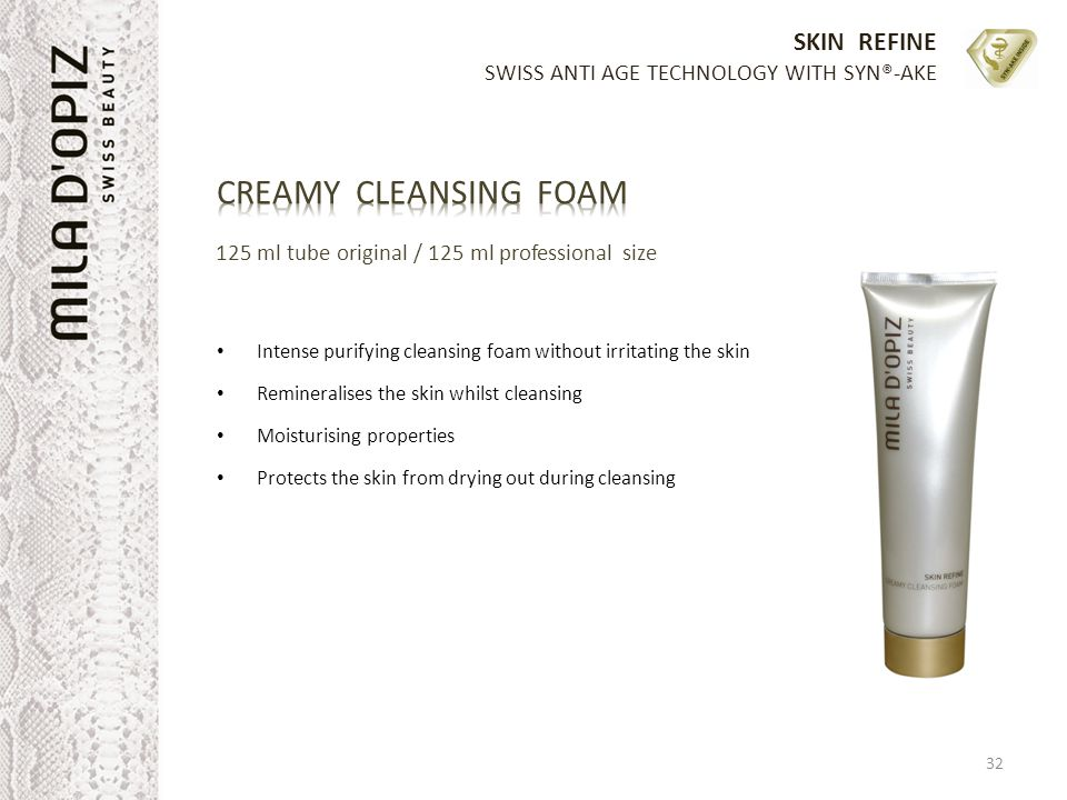 CREAMY CLEANSING FOAM 125 ml tube original / 125 ml professional size