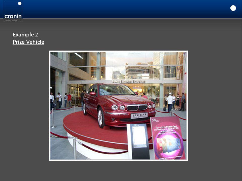 Example 2 Prize Vehicle