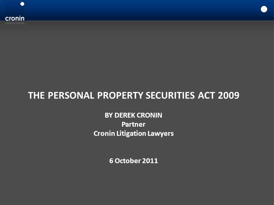 Cronin Litigation Lawyers