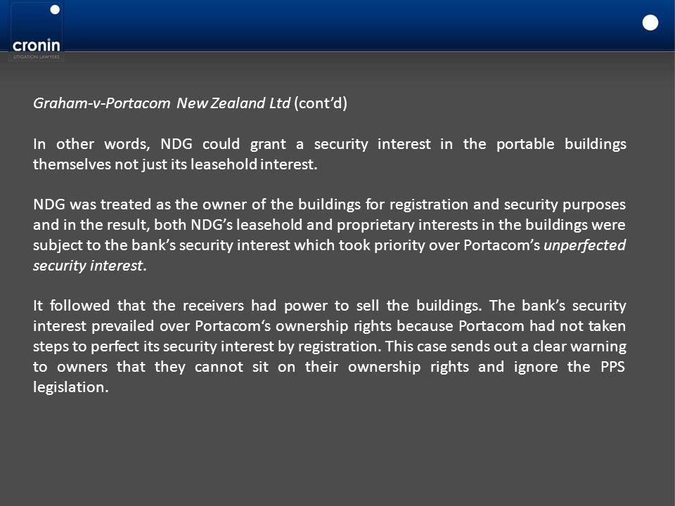 Graham-v-Portacom New Zealand Ltd (cont'd)