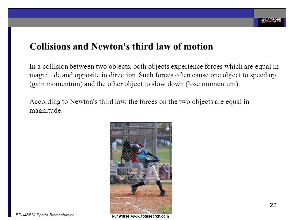 Collisions and Newton s third law of motion