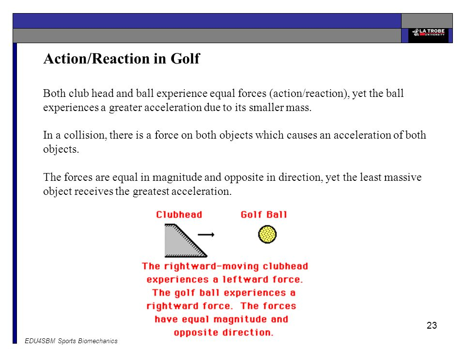 Action/Reaction in Golf