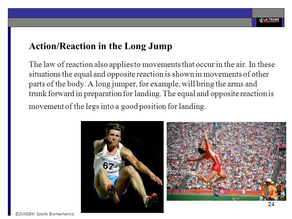 Action/Reaction in the Long Jump
