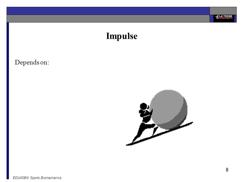 Impulse Depends on: EDU4SBM Sports Biomechanics