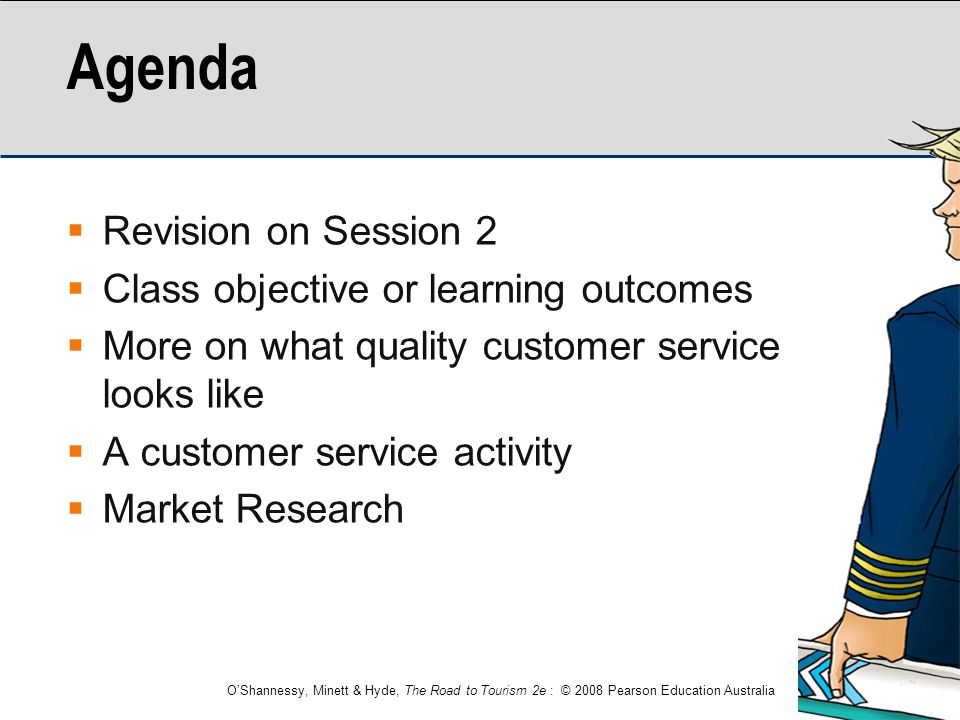 Agenda Revision on Session 2 Class objective or learning outcomes