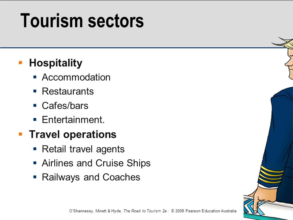 Tourism sectors Hospitality Travel operations Accommodation