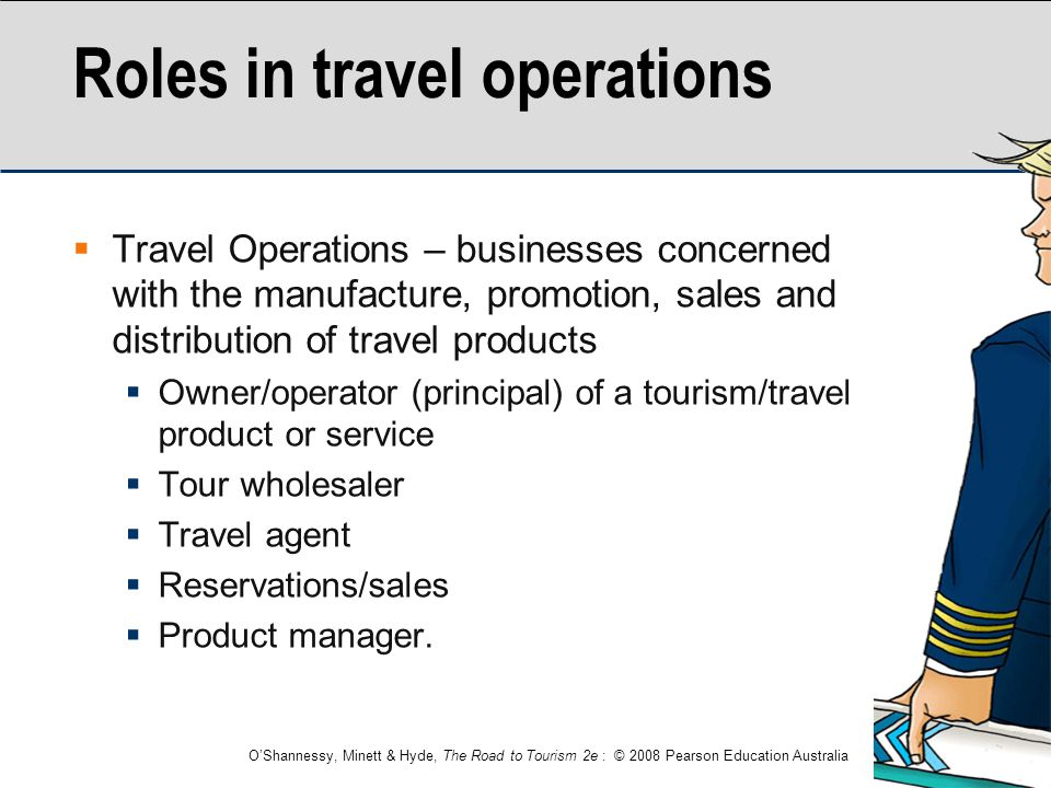 Roles in travel operations