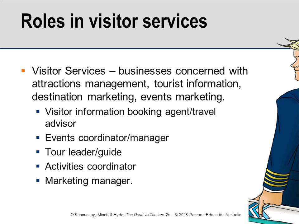 Roles in visitor services