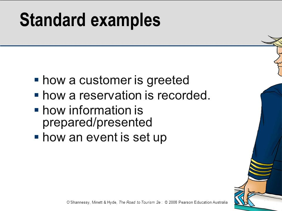 Standard examples how a customer is greeted
