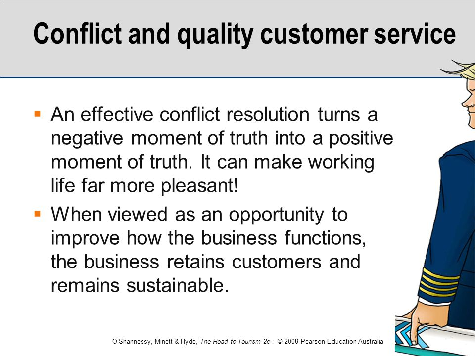 Conflict and quality customer service