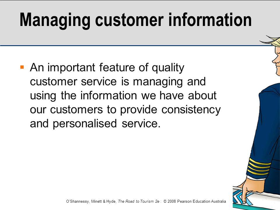 Managing customer information