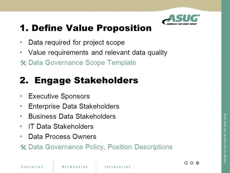 1. Define Value Proposition