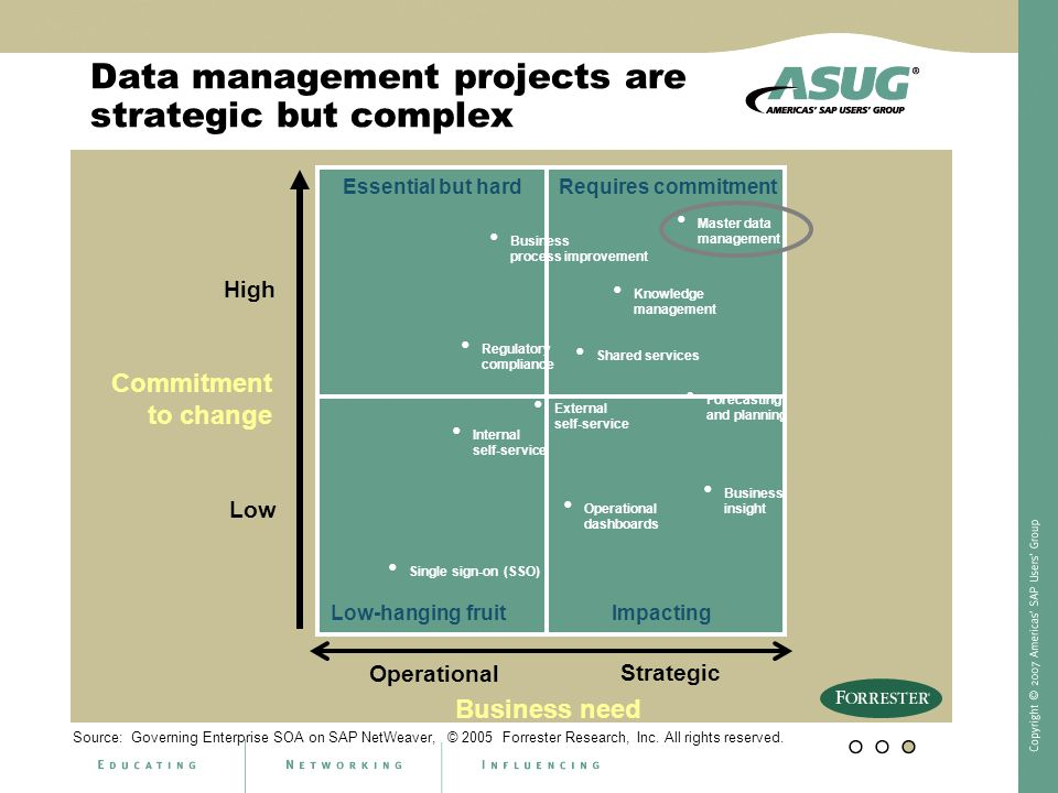 Data management projects are strategic but complex