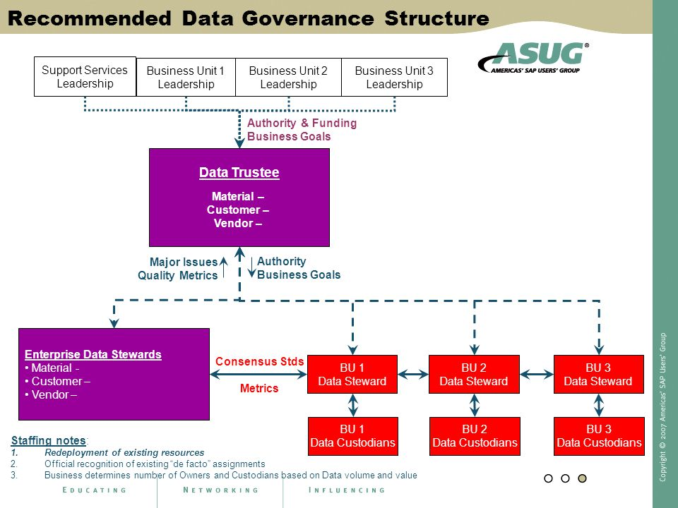 Recommended Data Governance Structure