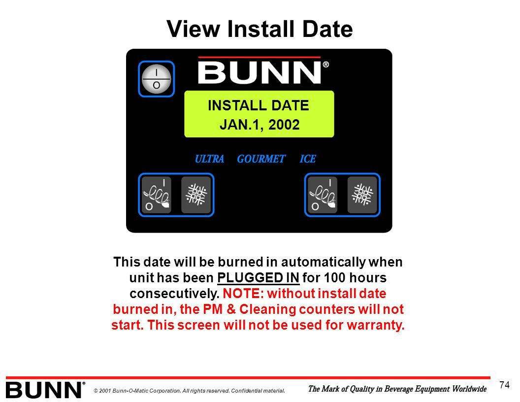 View Install Date INSTALL DATE JAN.1, 2002