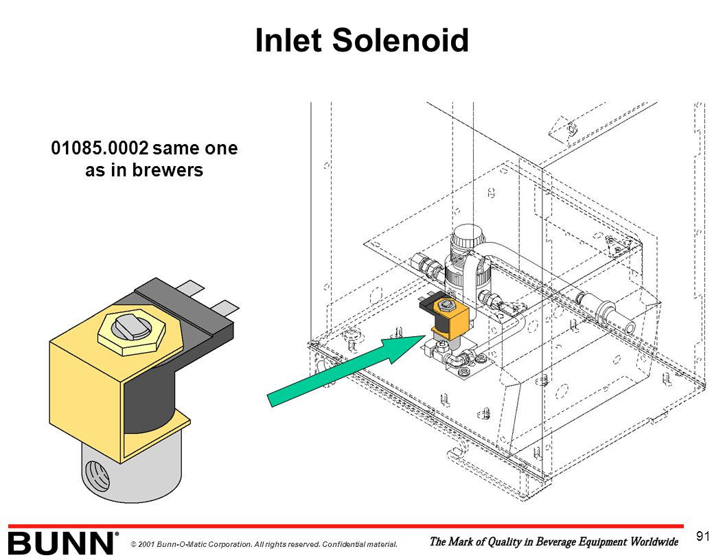Inlet Solenoid 01085.0002 same one as in brewers