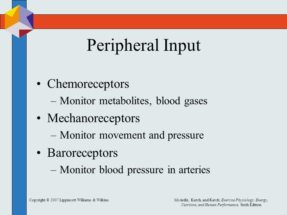 Peripheral Input Chemoreceptors Mechanoreceptors Baroreceptors