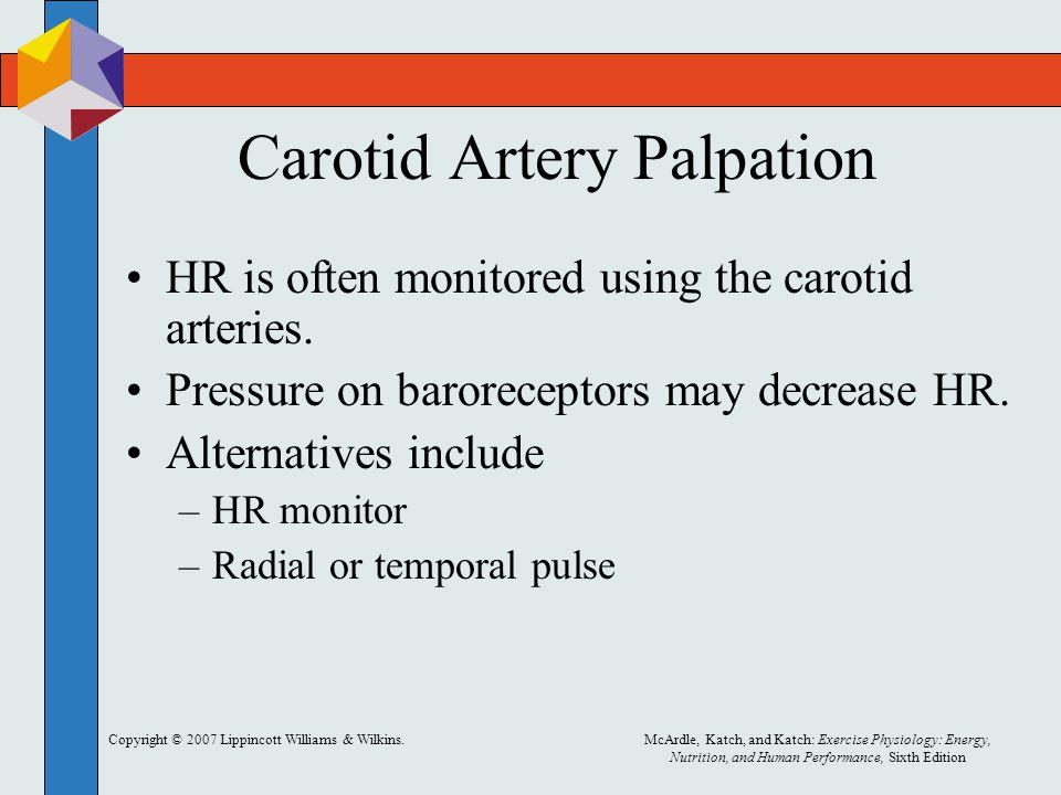 Carotid Artery Palpation