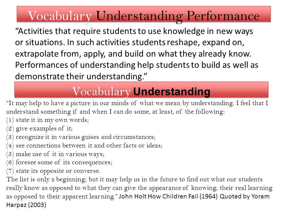 Vocabulary Understanding