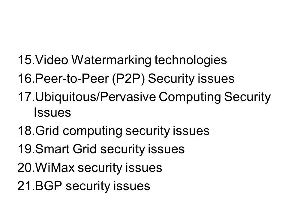 Video Watermarking technologies