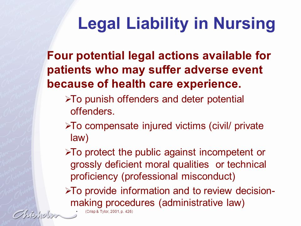 Legal Liability in Nursing