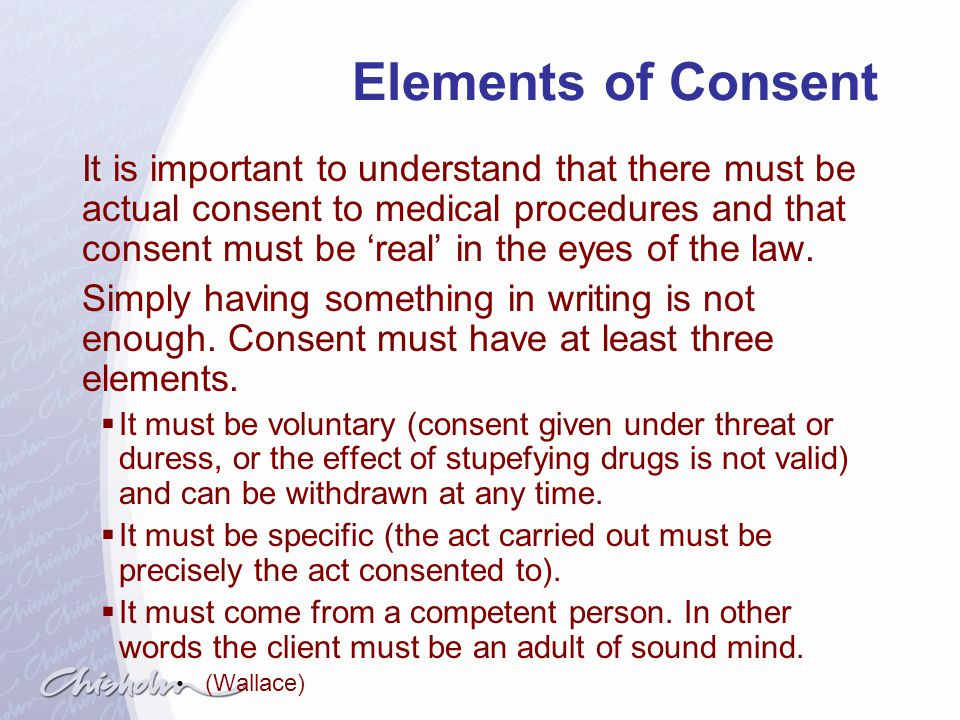 Elements of Consent