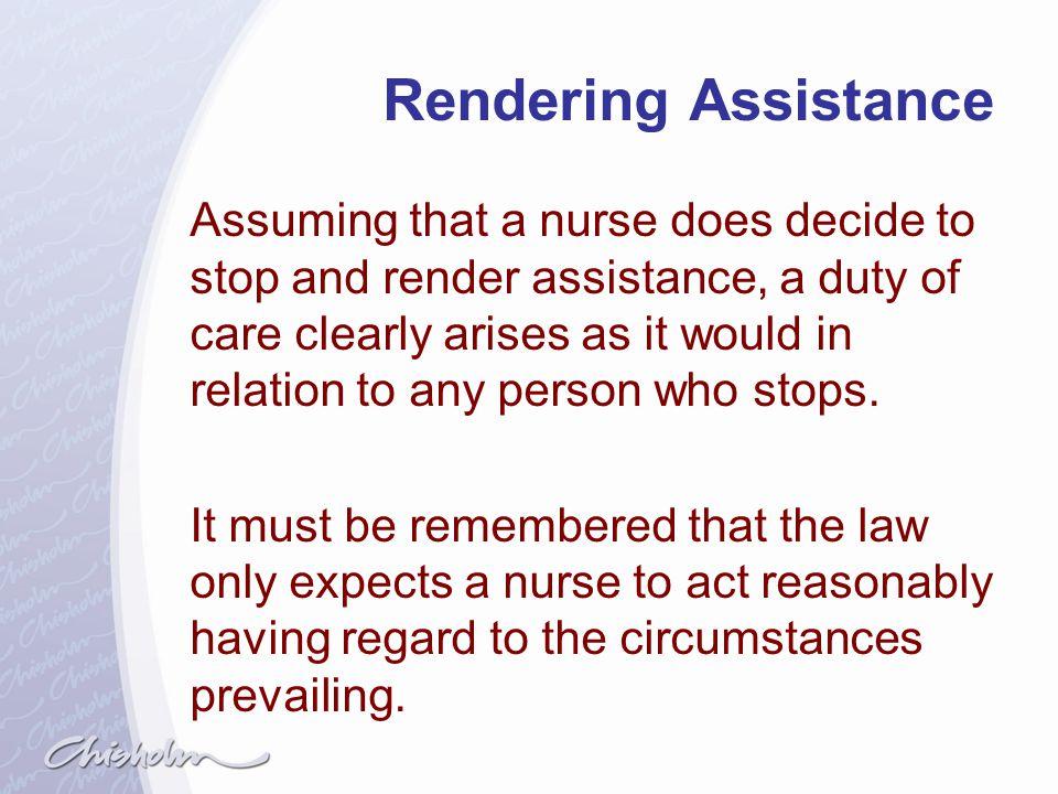 Rendering Assistance