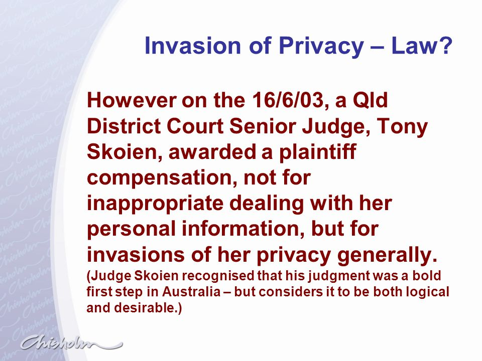 Invasion of Privacy – Law