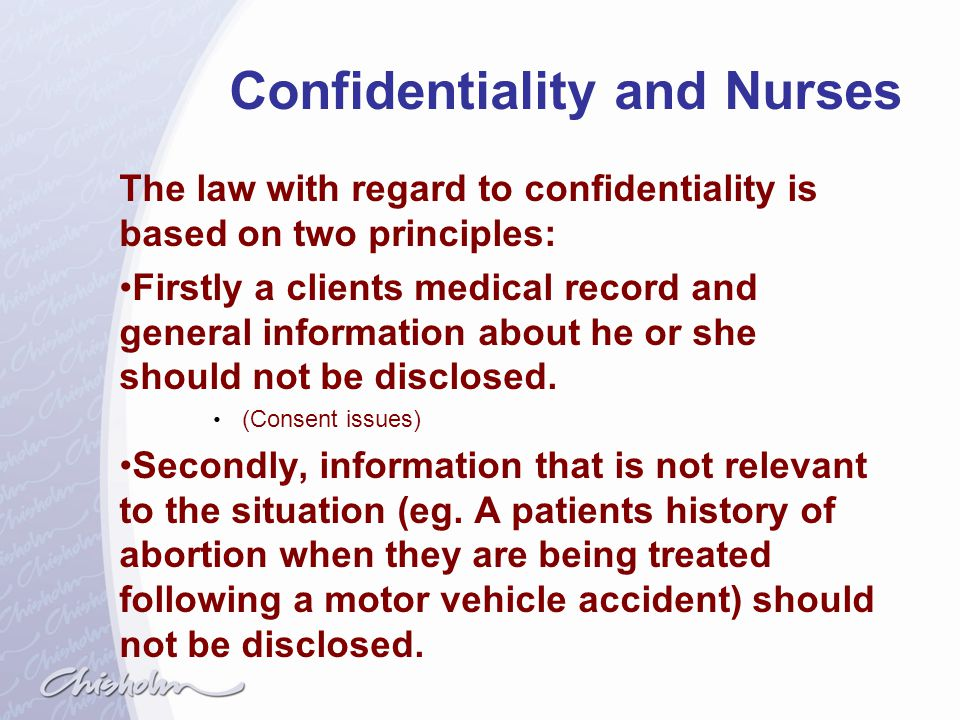 Confidentiality and Nurses