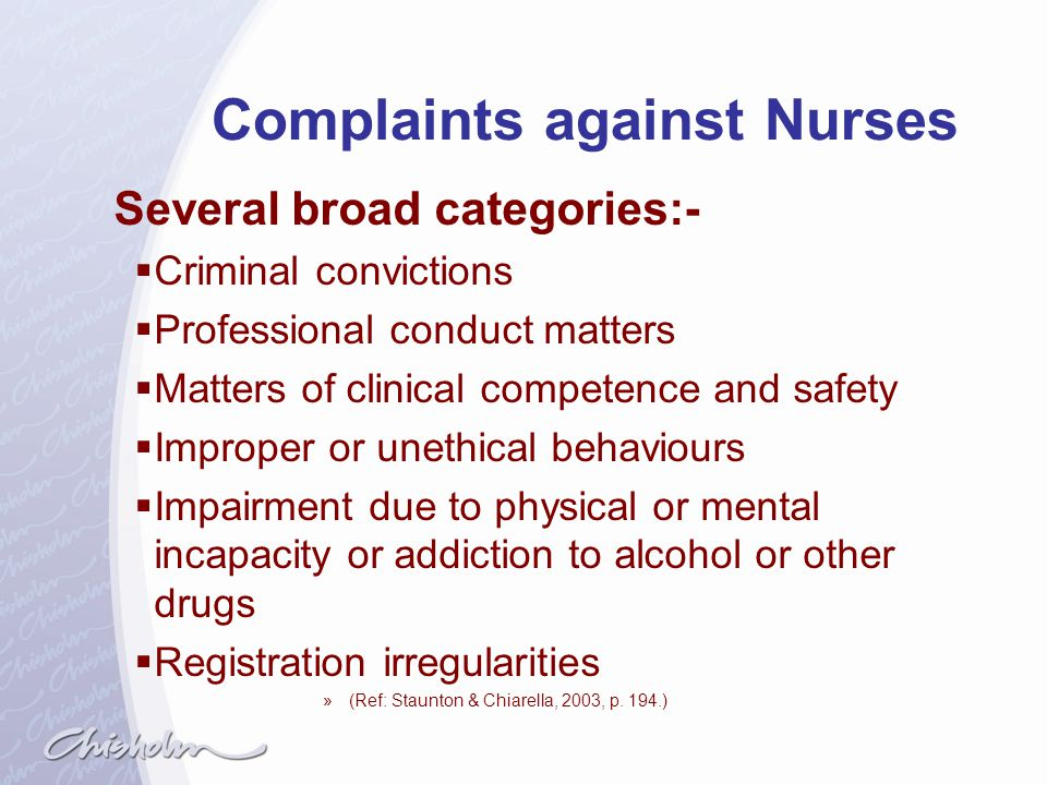 Complaints against Nurses