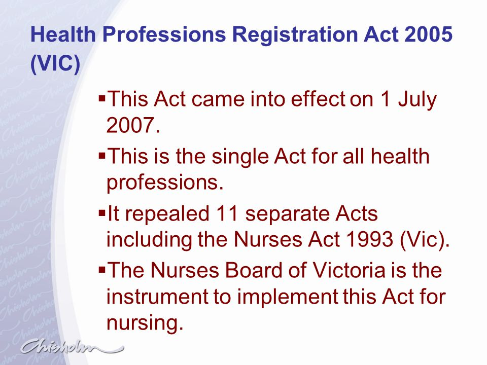 Health Professions Registration Act 2005 (VIC)