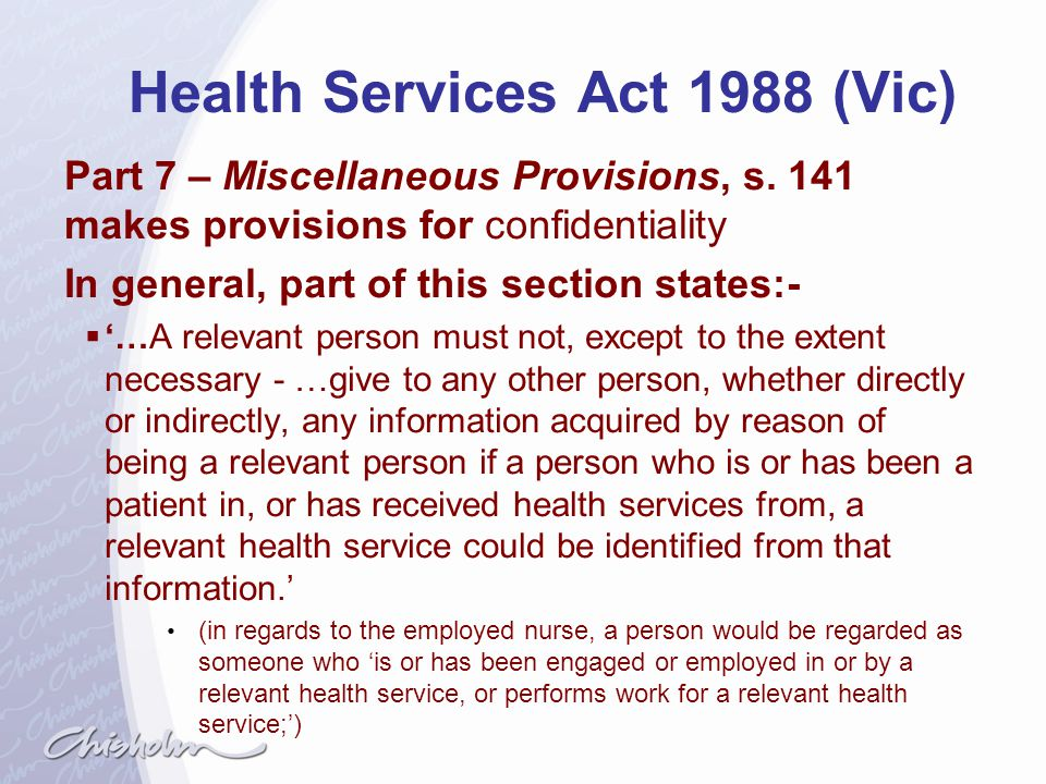 Health Services Act 1988 (Vic)