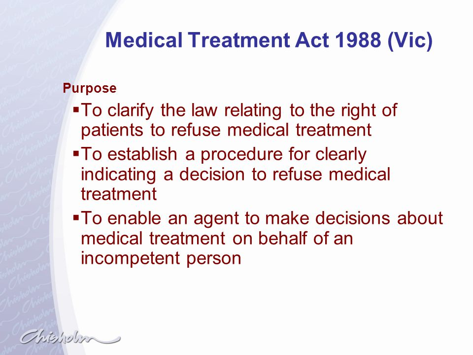 Medical Treatment Act 1988 (Vic)