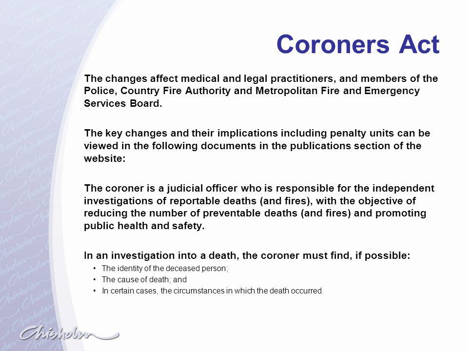 Coroners Act