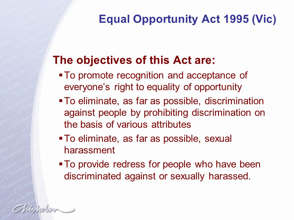 Equal Opportunity Act 1995 (Vic)