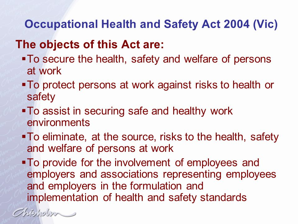Occupational Health and Safety Act 2004 (Vic)