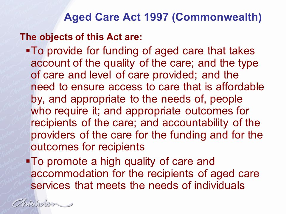 Aged Care Act 1997 (Commonwealth)