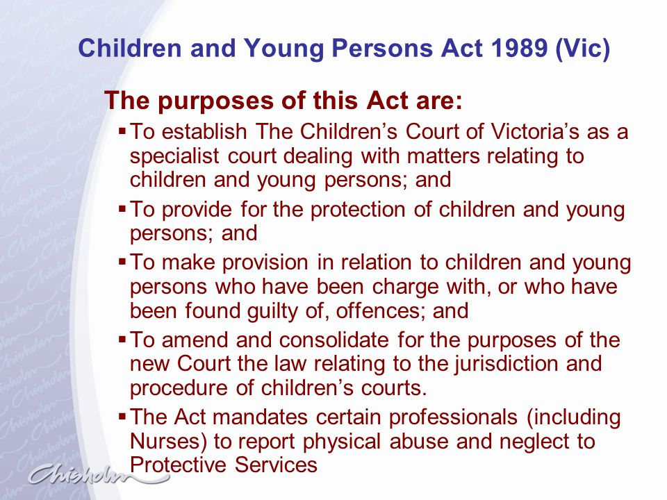 Children and Young Persons Act 1989 (Vic)