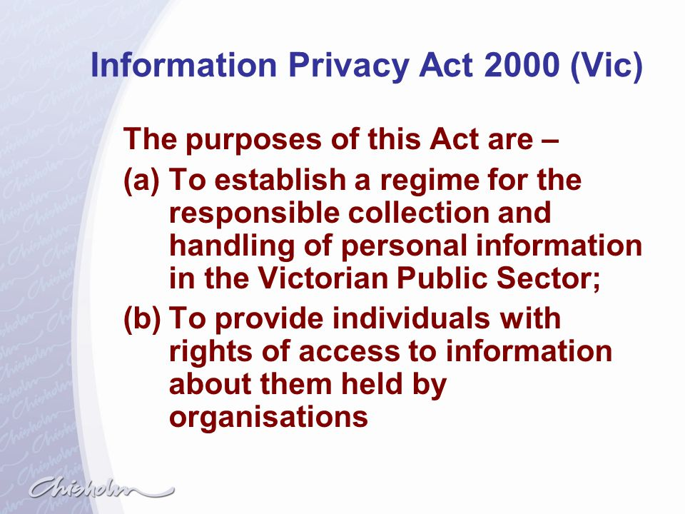 Information Privacy Act 2000 (Vic)