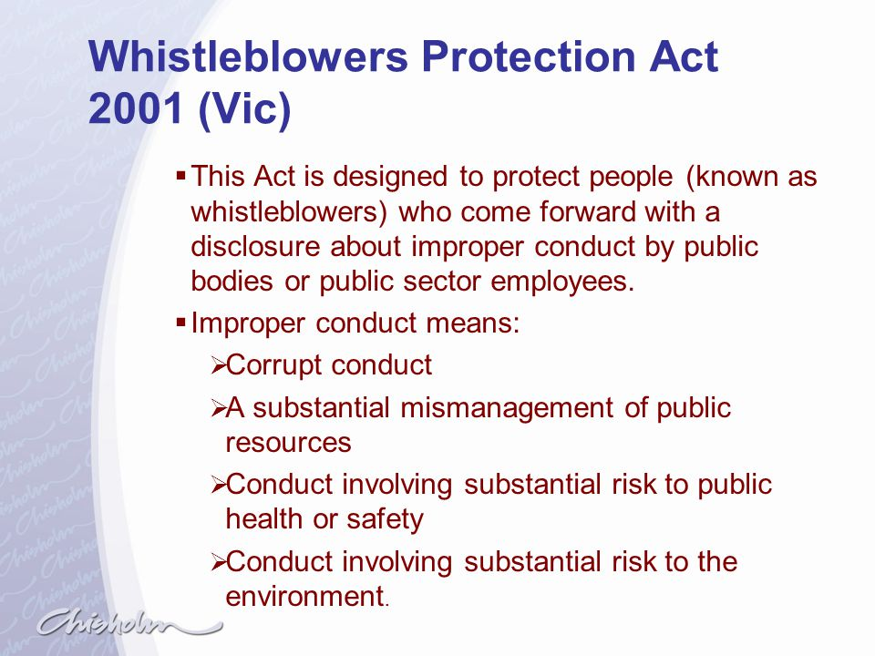 Whistleblowers Protection Act 2001 (Vic)