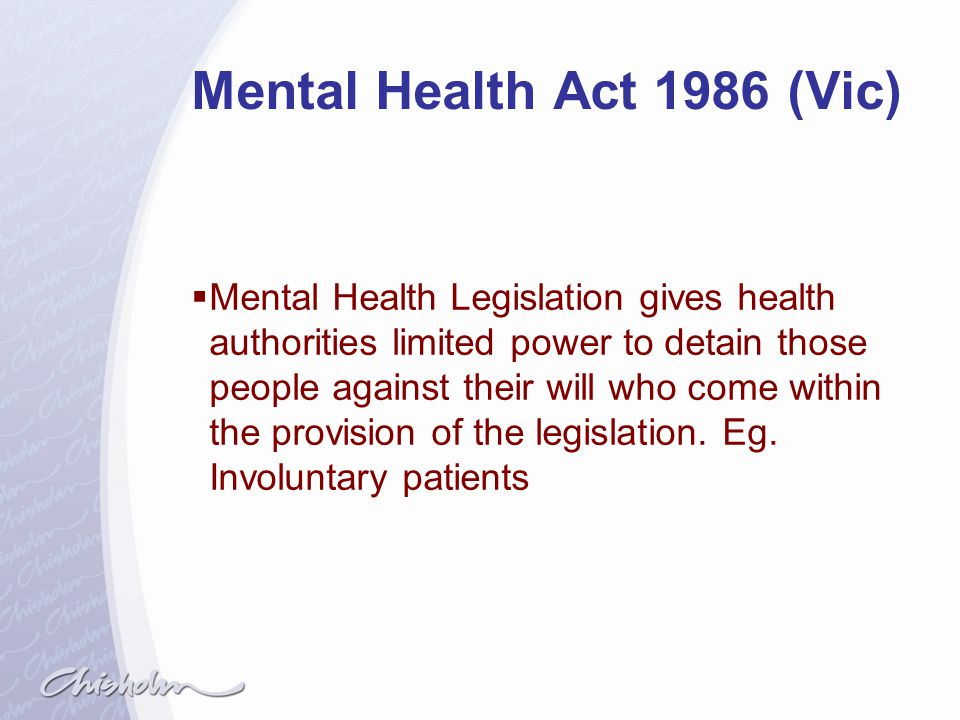 Mental Health Act 1986 (Vic)