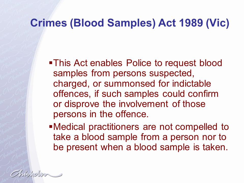 Crimes (Blood Samples) Act 1989 (Vic)