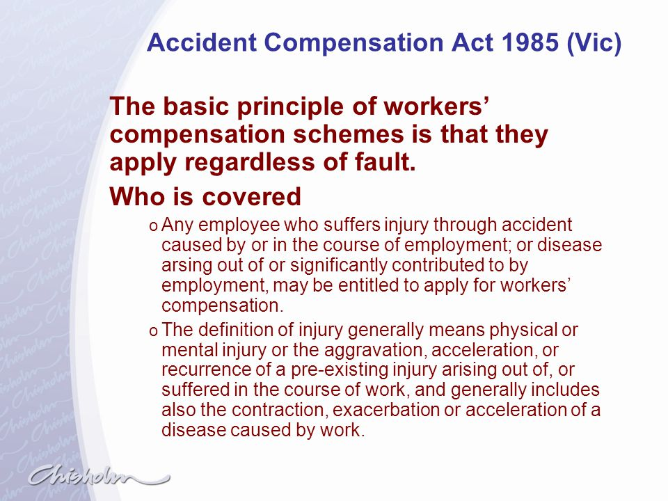 Accident Compensation Act 1985 (Vic)