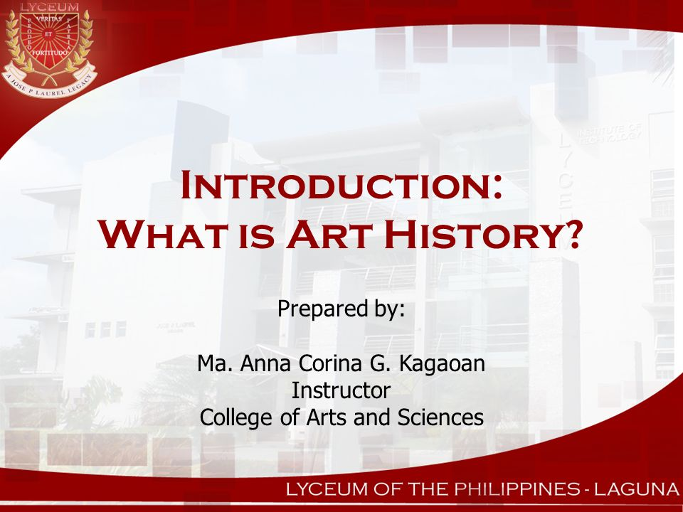Introduction: What is Art History