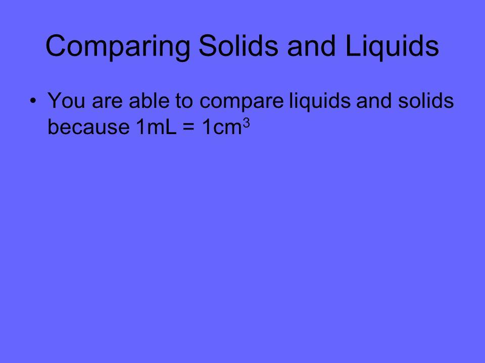 Comparing Solids and Liquids